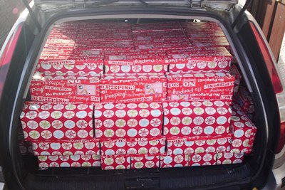 111 boxes fit in a Mondeo !